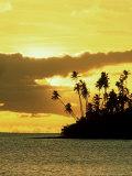 Sunset at Salani Village  Western Samoa