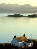 Cottage in Late Evening  Achiltibuie  Scotland