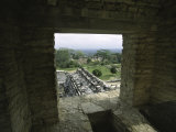 Looking out of the Ruins Over Palenque  Mexico