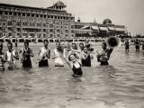 A Group of Musicians Plays in Waist-High Water