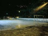 Soccer field Lit Up at Night  Rio de Janeiro  Brazil