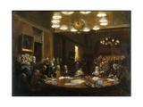 A Painting Depicts the Founding of the National Geographic Society