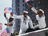 Sailors at Desert Storm Victory Parade