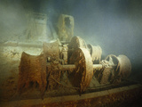 Winches  Rust-Bound  to the Toppled Forward Mast on the Foredeck of the RMS &quot;Titanic&quot;