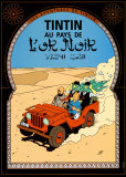 Tintin au Pays de l'Or Noir, c.1950 Reproduction d'art par Hergé (Georges Rémi)