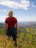 A Woman Admires the View of a Canyon in Southern Utah