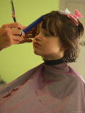 A 6-year-old Girl Gets a Haircut