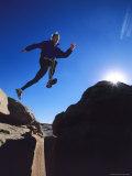 Running on a Sandstone Ridge Above Bluff  Utah