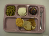 Food Sits on a School Lunch Tray