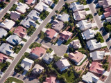 An Aerial View of a Subdivision in Las Vegas  Nevada