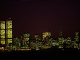 Night View of the Skyline of Lower Manhattan