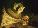 The Skull of One of the Tragedys 800 Victims Lies Near One of the Ships Cannons