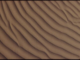 A Close-up of a Sand Dune  Showing a Rippling Effect Caused by the Wind
