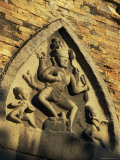 Hindu-Influenced Art Above the Entrance of One of the Po Nagar Cham Towers
