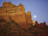 A Spring Moon Rises over the Canyon