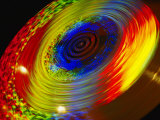 Time Exposure of a Spinning Color Wheel Showing a Spectrum of Hues