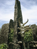 Animal Skulls Decorate a Tomb in Madagascar