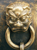 Close View of an Ornate Handle on an Urn in the Forbidden City