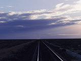 Railroad Tracks Disappear into the Australian Outback Region