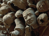 A Jumbled Heap of Terra-Cotta Heads Await Reconstruction