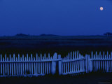 Moon and Picket Fence at Rhodes Point