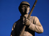 Statue of a Soldier Holding a Rifle at the Antietam National Battlefield