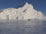 Tourists Explore Ice Formations Near Qaanaaq