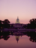 Twilight View of the Capitol and its Image in the Reflecting Pool