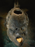 An Oil Lamp  Shaped Like an Africans Head  Dating from Roman Times