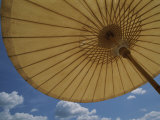 An Umbrella Blocks the Sun on a Phuket Island Beach
