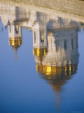 A View of a Greek Orthodox Cathedral Reflected in the Still Waters of the Moscow River