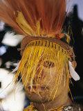 A Tribesman in Full Regalia Glowers During a Festival