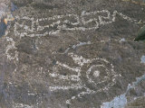 Jornada Mogollon Petroglyph  5 000 BC-900 Ad  Hand Motif