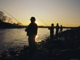 Men Fishing on Sardis Lake Near Oxfod  Mississippi