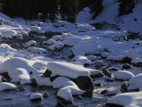 Snow Covers Rocks Lying in Soda Butte Creek