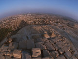 The Pyramids of Giza Cast a Shadow over the Surrounding Cityscape