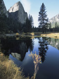 Cathedral Rocks and Reflection on the Surface of the Merced River