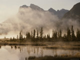 Foggy Sunrise over the Vermilion Lakes