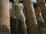 Towering Statues of Ramses Ii and Columns in the Luxor Temple Complex