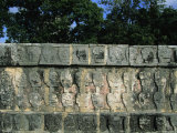 Wall of Skulls (Known as Tzompantli)  Chichen Itza  Mexico