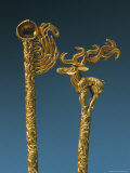 Two Gold Headdress Pins Recovered from a Royal Scythian Tomb