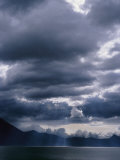 Storm Clouds Hover Above a Mountain Lake in Guatemala
