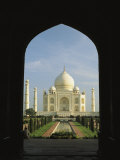 A View of the Taj Mahal Framed Through a Doorway