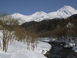 Winter View of Shiretoko National Parks Mountainous Landscape