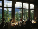 Guests Enjoy a Meal in the Emerald Lake Lodge Dining Room
