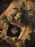 An Aerial View of Beta Giyorgis Church Cut out of Bedrock