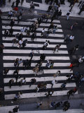 Birds-Eye View of a Busy Crosswalk on a Buenos Aires Street