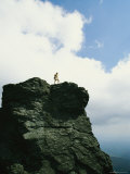 A Woman Stands on the Top of Grandfather Mountain
