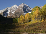 The Majestic Maroon Bells Loom Above Maroon Lake