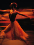 Portrait of a Ballet Dancer Bathed in Red Light  Nairobi  Kenya